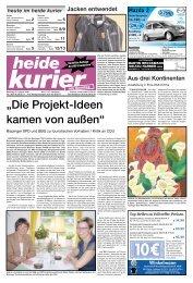 """""""Die Projekt-Ideen kamen von außen"""" - Heide Kurier"""