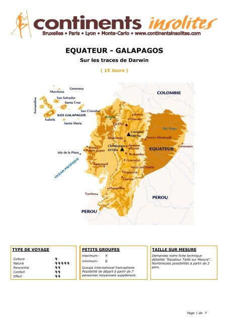 EQUATEUR - GALAPAGOS - Continents Insolites