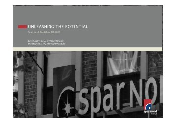 UNLEASHING THE POTENTIAL - Spar Nord