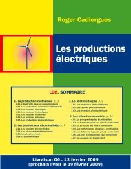 Les productions électriques