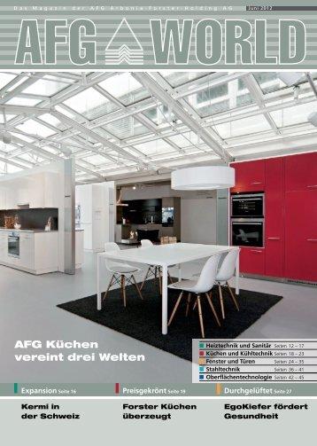 AFG Küchen vereint drei Welten  - AFG Arbonia-Forster-Holding AG