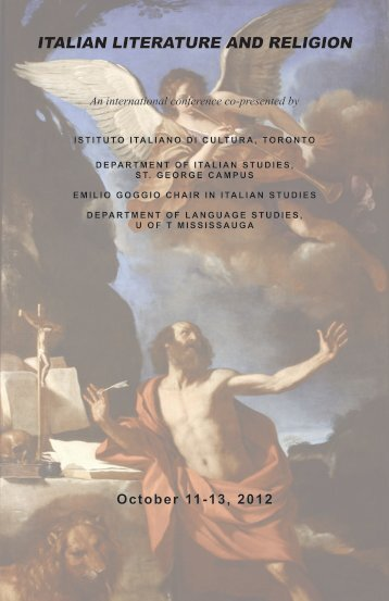 ITALIAN LITERATURE AND RELIGION