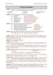 6 Chemie der Komplexe