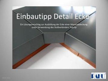Einbautipp Detail Ecke - Raku