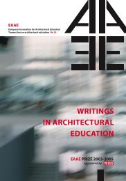 writings in architectural education - School of Architecture + Design