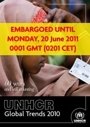 EMBARGOED UNTIL MONDAY, 20 June 2011 0001 GMT ... - UNHCR