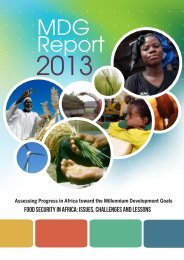 MDG Report 2013 - United Nations Economic Commission for Africa