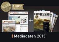 Mediadaten 2013 - Competitionline