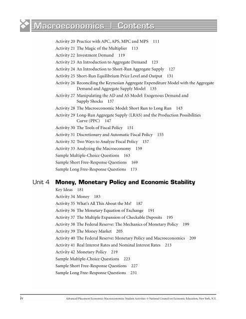 A Macroeconomics Co