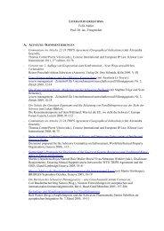 Schriften, Lehrveranstaltungen und Referate