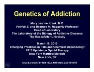 Genetics of Addiction