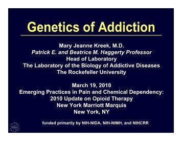 Genetics of Addiction