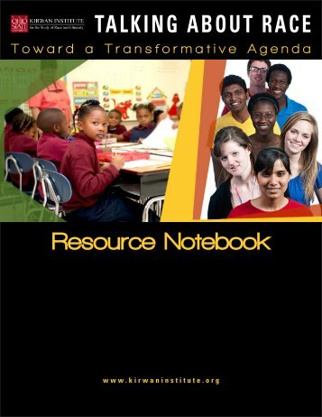 Talking About Race Resource Notebook