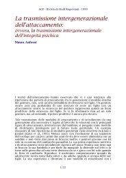 La trasmissione intergenerazionale dell'attaccamento: ovvero ... - ACP