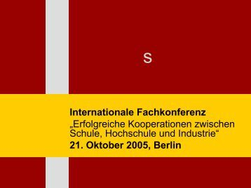 Download - Internationale Konferenz am 20. und 21. Oktober 2005 ...