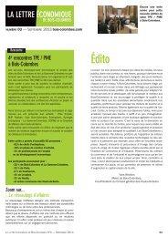 Découvrez la lettre économique de septembre 2013 - Bois-Colombes