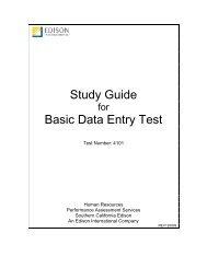 Basic Data Entry - Edison International
