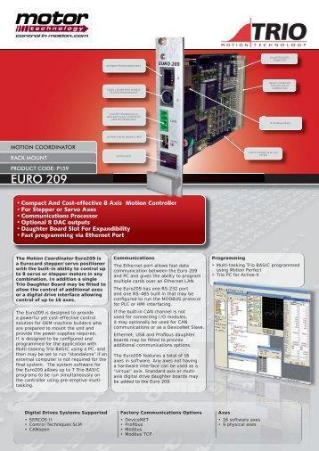 euro209 Data Sheet.indd - Motor Technology Ltd