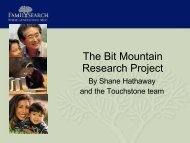 The Bit Mountain Research Project