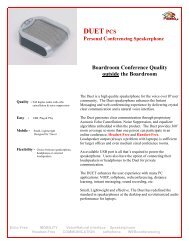 Phoenix Audio Duet-PCS Datasheet - VoIP Supply