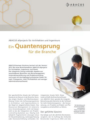Ein Quantensprung - ABACUS Business Solutions GmbH