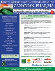 Digital Marketing & Communications for Pharma - March 22-23, 2011