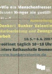 Landeszentrale für politische Bildung Bremen - Denkort Bunker ...