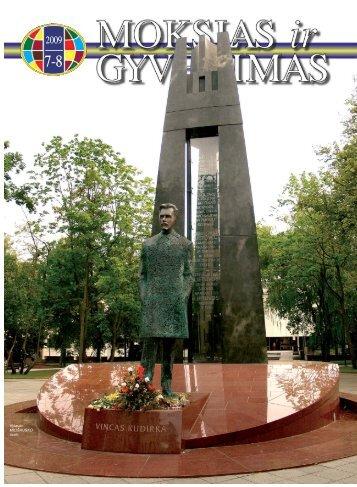Mokslas ir gyvenimas 2009 Nr. 7–8 1 - Vilniaus universitetas