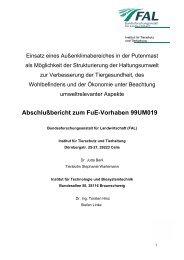 Abschlußbericht zum FuE-Vorhaben 99UM019 - BLE