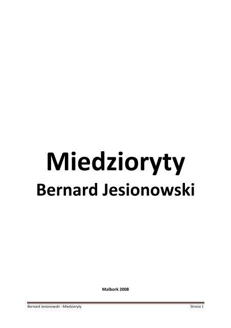 Bernard Jesionowski - Marienburg.pl