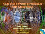 CMS Muon System performance with Cosmic Rays CMS Muon ...