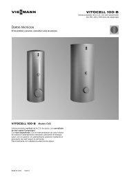 Datos técnicos Vitocell 100-B CVB835 KB - Viessmann