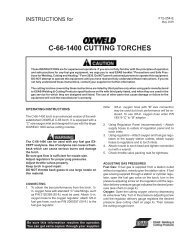 C-66-1400 CUTTING TORCHES