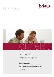 Die Kooperationsvereinbarung III - BDEW