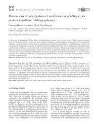 Distorsions de ségrégation et amélioration génétique des plantes ...