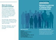 information leaflet available which gives families further information