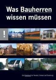 Was Bauherren wissen müssen - Architekturbüro Heidenreich