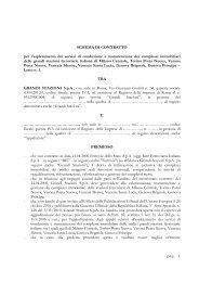 Schema di contratto - Lotto n.1 - Grandi Stazioni S.p.A.