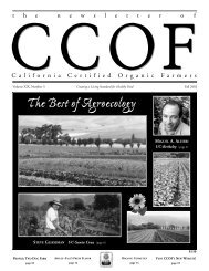 The Best of Agroecology - CCOF