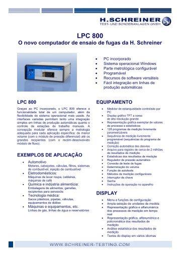 LPC 800 - H.Schreiner Test