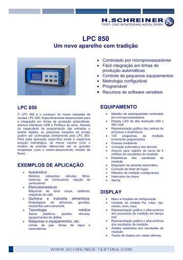 LPC 850 - H.Schreiner Test