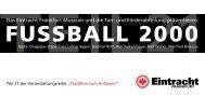 FUSSBALL 2000 - Eintracht Frankfurt eV