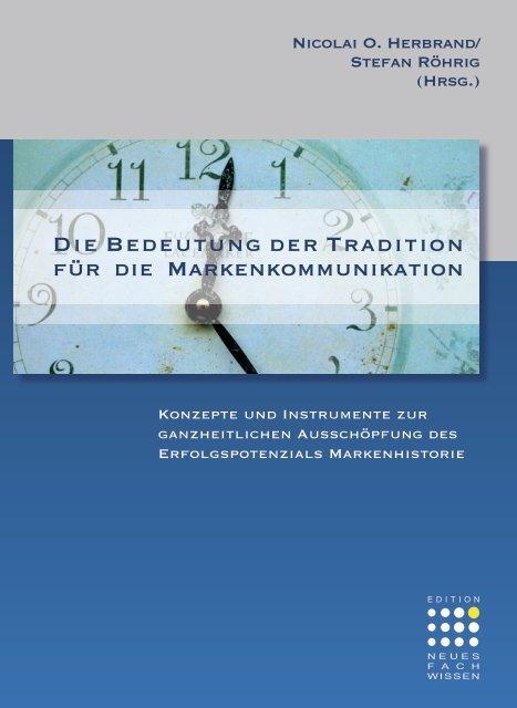 Die Bedeutung der Tradition für die ... - History Management