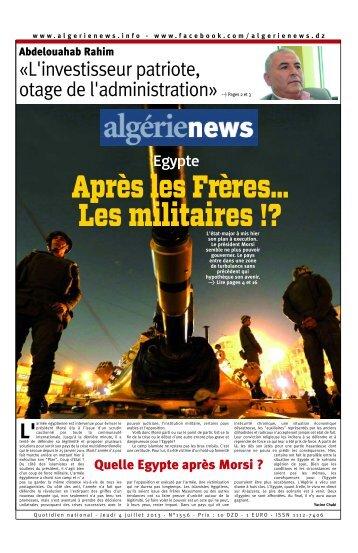 Fr-04-07-2013 - Algérie news quotidien national d'information
