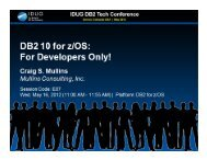 DB2 10: For Developers Only - neodbug