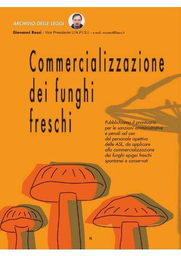 Commercializzazione dei funghi - UNPISI