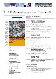 2. [GGSC] Erfahrungsaustausch Kommunale ... - GGSC Seminare