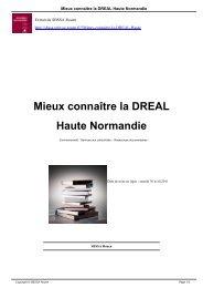 Mieux connaître la DREAL Haute Normandie - SBSSA Rouen