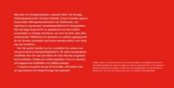 Progressiv kommunikation - Svenska institutet