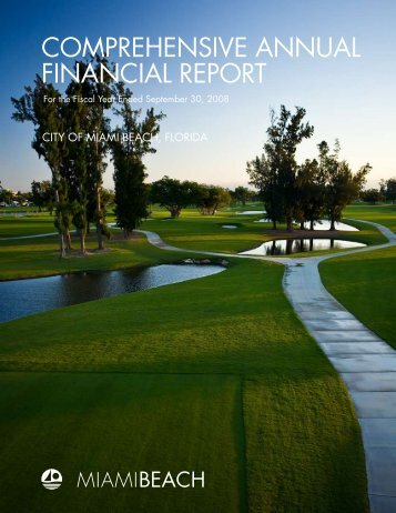 comprehensive annual financial report - City of Miami Beach